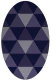 rug #1148787   oval blue-violet geometry rug