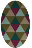 rug #1148815 | oval brown retro rug