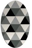 rug #1148847 | oval black rug