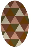 rug #1148851 | oval brown retro rug