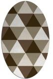 rug #1148863   oval mid-brown retro rug