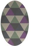 rug #1148887   oval purple retro rug