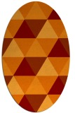 rug #1148911 | oval orange retro rug