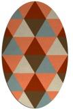 rug #1148919 | oval retro rug