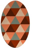 rug #1148923 | oval orange geometry rug