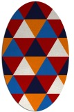 rug #1148959 | oval red retro rug