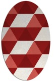 rug #1148967 | oval red retro rug