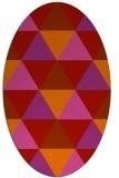 rug #1148971 | oval red geometry rug