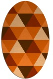 rug #1148979 | oval red-orange geometry rug