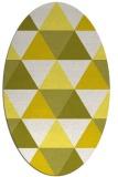 rug #1148995 | oval white geometry rug
