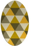 rug #1149019 | oval yellow retro rug