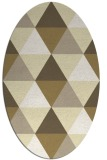 rug #1149023 | oval yellow retro rug