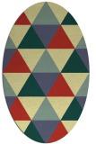 rug #1149035 | oval retro rug