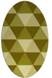 rug #1149039 | oval light-green geometry rug