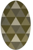 rug #1149051 | oval light-green rug