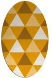 rug #1149055 | oval light-orange retro rug