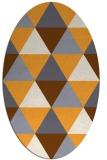rug #1149067 | oval white retro rug