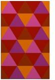 rug #1149339 |  red geometry rug
