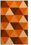 rug #1149347 |  red-orange geometry rug