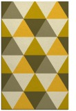 rug #1149387 |  yellow geometry rug