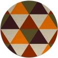 rug #1149439 | round orange retro rug