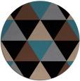 rug #1149455 | round brown retro rug