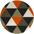 rug #1149463   round black retro rug