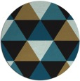 rug #1149467 | round brown retro rug