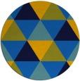 rug #1149471 | round blue retro rug