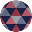 rug #1149531   round blue-violet retro rug