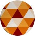 rug #1149651 | round orange popular rug