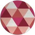 rug #1149675 | round pink retro rug