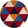 rug #1149695 | round red retro rug