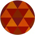 rug #1149699 | round red retro rug