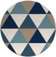 rug #1149747   round white retro rug
