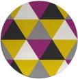 rug #1149763 | round yellow retro rug