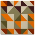 rug #1150175 | square orange geometry rug