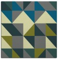 rug #1150303 | square blue-green popular rug