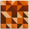 rug #1150451 | square red-orange geometry rug
