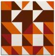 rug #1150459 | square red-orange popular rug