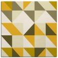 rug #1150491   square yellow geometry rug