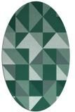 rug #1150599 | oval blue-green rug