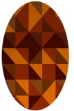 rug #1150815 | oval red-orange rug