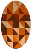 rug #1150819 | oval red-orange geometry rug