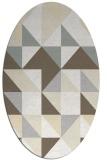 rug #1150847 | oval white geometry rug