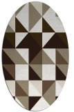 rug #1150855 | oval white geometry rug