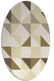 rug #1150863   oval white geometry rug