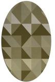 rug #1150883 | oval light-green rug