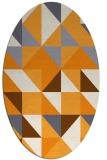 rug #1150907 | oval light-orange rug