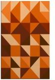 rug #1151187    red-orange geometry rug
